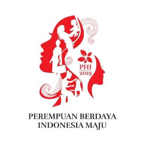 Tema raya Peringatan Hari Ibu ke-91 tahun 2019, Perempuan Berdaya Indonesia Maju. | Kemen PPPA RI