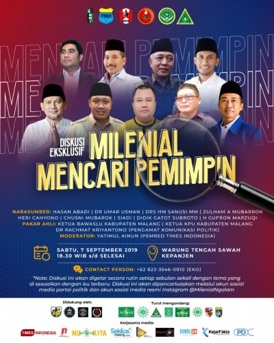 """Koalisi Milenial Ngalam Sukses Gelar Diskusi """" Milenial Mencari Pemimpin """""""