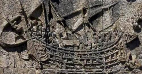 Ilustrasi perahu yang digunakan nenek moyang