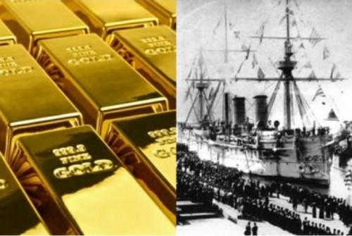 200 ton emas di kapal harta karun Rusia Dimitrii Donskoi, benarkah memang ada? (kolase Intisari)