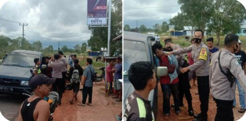 Heboh Kabar Diduga Pelaku Jambret Diamuk Masa di Desa Lenggang Gantung