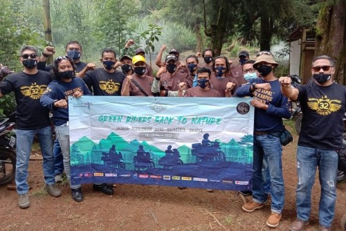 Tempuh 1400 KM, LA 32 Riders Gelar Berbagai Aksi Sosial Unik